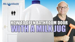 How to Open a Locked Bathroom Lock with a Milk Jug or Credit Card Mr. Locksmith Video