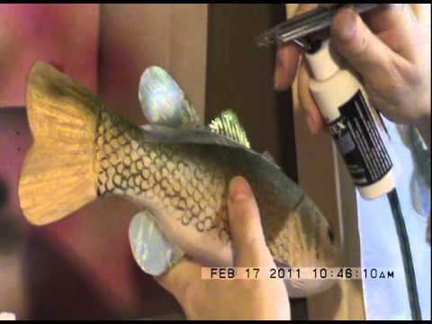 Fish Carving. Olga's Decoys. Nims Enterprises