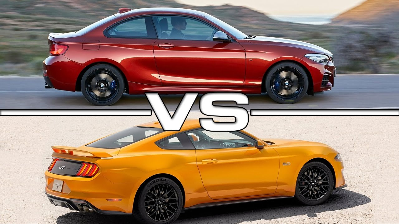 2018 bmw m240i vs 2018 ford mustang gt