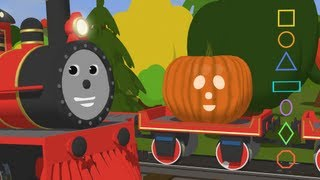 Learn  Shapes and Carve Pumpkins with Shawn the Train - Fun Cartoon for Kids thumbnail