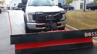 2016 F550 4x4  snow plow with a ten foot Dump Bed.
