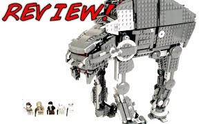 LEGO Star Wars 75189 FIRST ORDER HEAVY ASSAULT WALKER Review! |  The Last Jedi 2017 Set! | NEW Rey!