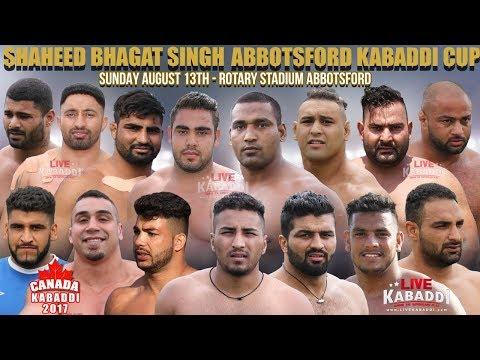 LIVE - Shaheed Bhagat Singh Abbotsford Cup - CANADA KABADDI
