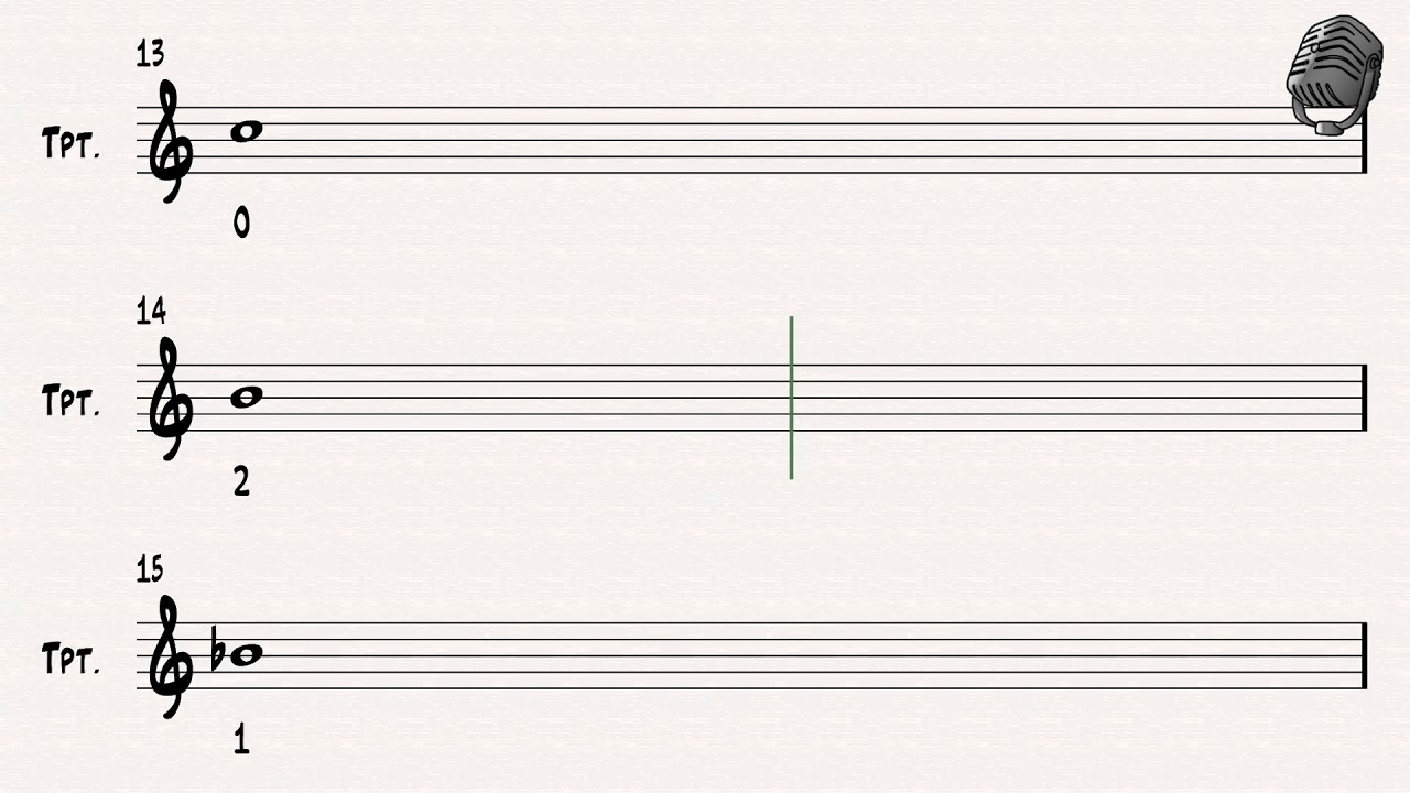 Trumpet Fingering Chart/ Chromatic Scale - YouTube