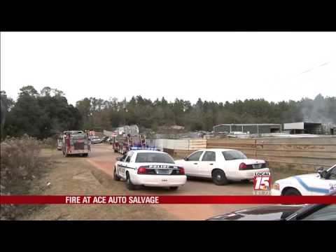 Ace Auto Salvage >> Fire At Ace Auto Salvage