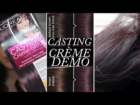 How to Color Your Hair At Home | L'Oreal Casting Creme Gloss Demo on Dark Hair