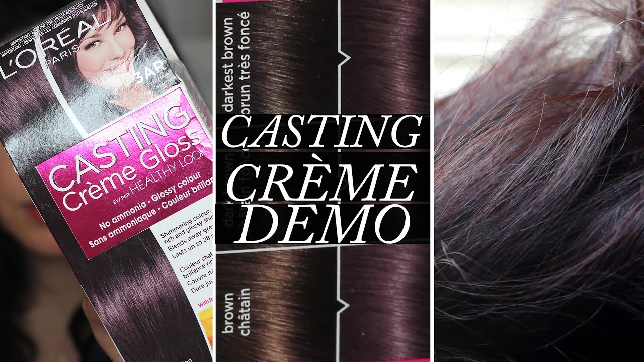 L Oreal Casting Creme Gloss Demo On Dark Hair Youtube