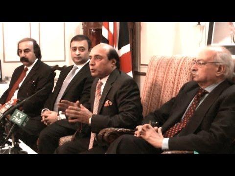 London Media Interaction with Governor Punjab Sardar Latif Khosa