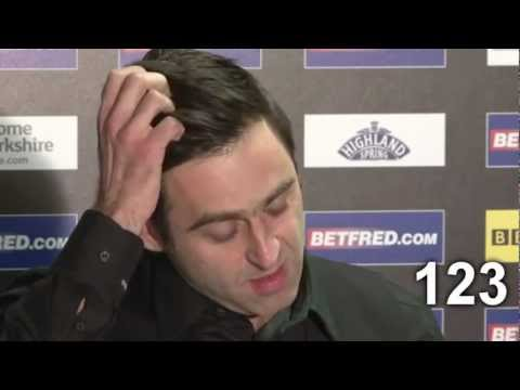 Ronnie O'Sullivan says 'You know' 147 times - Snooker World Championships 2013 - Interview