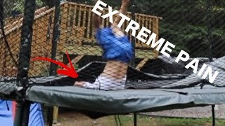 Terrifying trampoline accident...