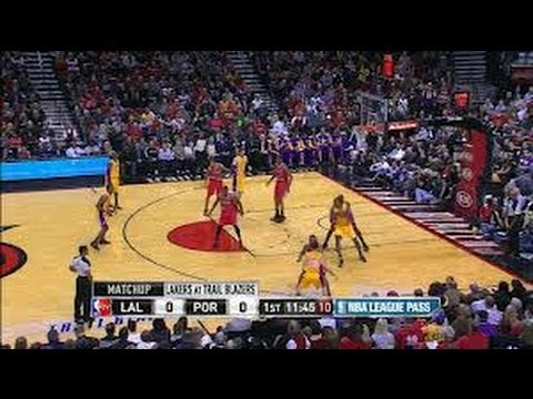 LAKERS VS BLAZERS HIGHLIGHTS 4/10/13