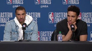 George Hill & Malcolm Brogdon Postgame Interview - Game 3 | Bucks vs Raptors | 2019 NBA Playoffs