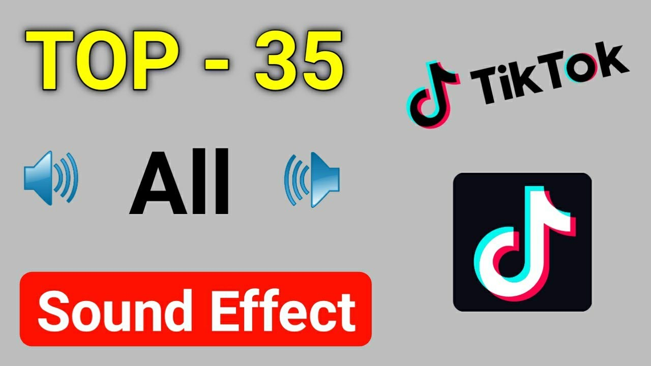 Top 35 Sound Effect On Tik Tok Funny Sound Effect Part 1 Youtube