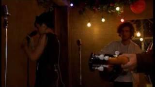 Lily Allen backstage