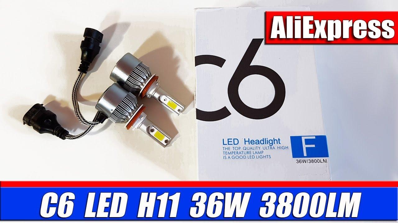 LED лампа в фару питбайка H6 Ba20d 6000k