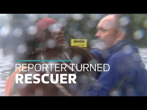 ITV News report turns into dramatic flood rescue