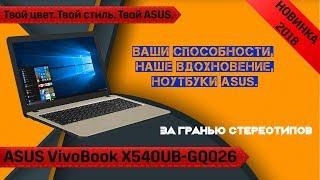 Обзор ноутбука ASUS VivoBook 15 X540UB-GQ026. Новинка!!! Возможно да, возможно нет.