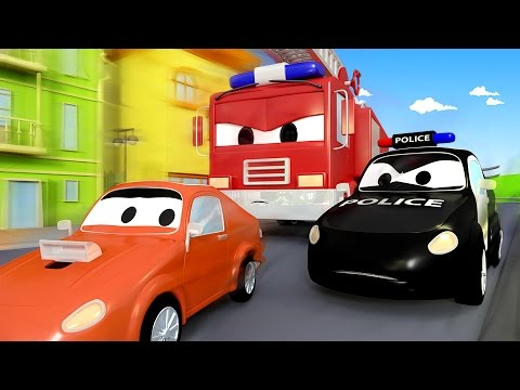 The Car Patrol: Fire Truck and Police Car and the Surprise Birthday Party in Car City