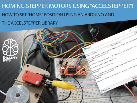 Homing stepper motors using the AccelStepper library