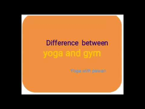 Difference between yoga and gym