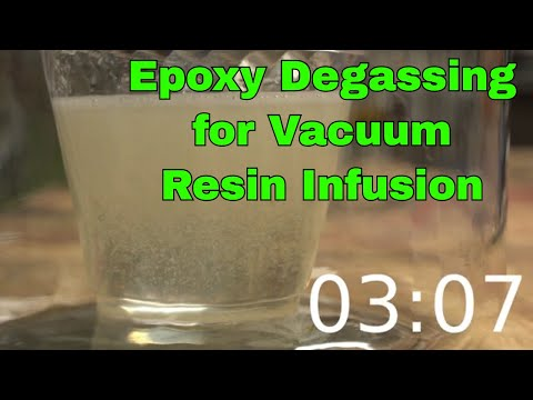 Epoxy Degassing at x8 speed for vacuum resin infusion