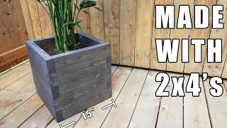 DIY Planter Box with 2x4's - How to make