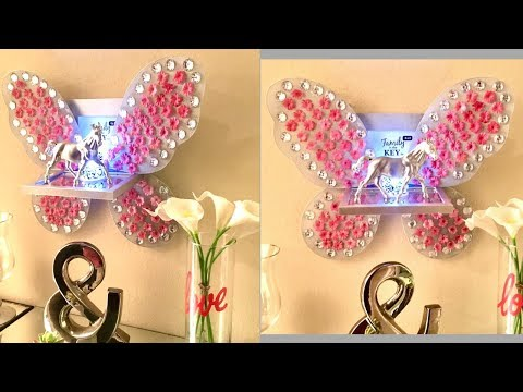 Diy Shelves & Picture frame with Fairy Wings| Quick and Easy Dollar Tree Wall Decor!