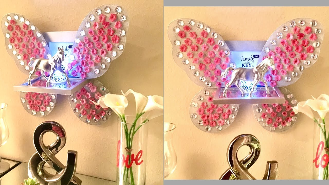 Diy Shelves & Picture frame with Fairy Wings| Quick and Easy Dollar ...