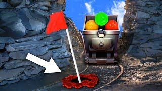IMPOSSIBLE MINECART HOLE IN ONES! (Golf It)