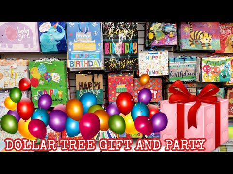 DOLLAR TREE PARTY SUPPLIES AND AWESOME GIFT BAGS