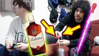 人の飲み物に酒を徐々に注いだら何mlで気づくの!?【ドッキリ】