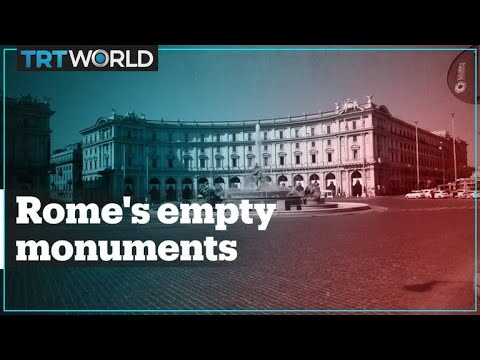 Rome's tourist hotspots have turned into ghost towns