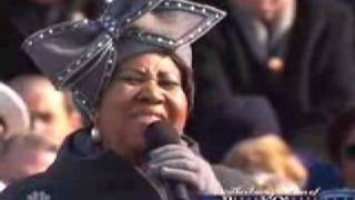 Barack Obama Inauguration - Aretha Franklin - Sings
