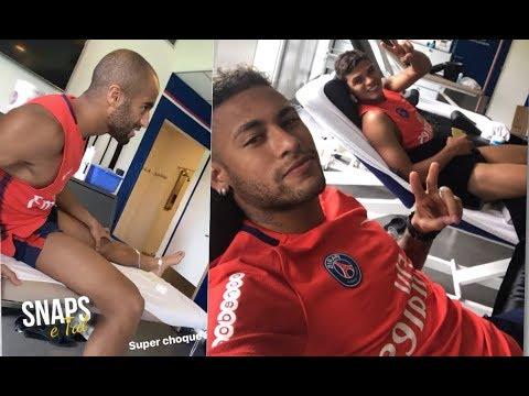 Neymar fazendo terapia do choque