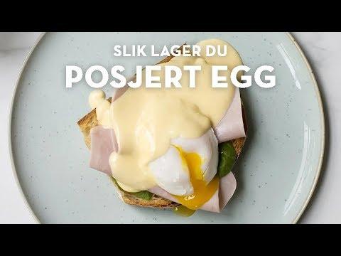 Posjert egg med enkel hollandaise, eggs benedict | TINE Kjøkken