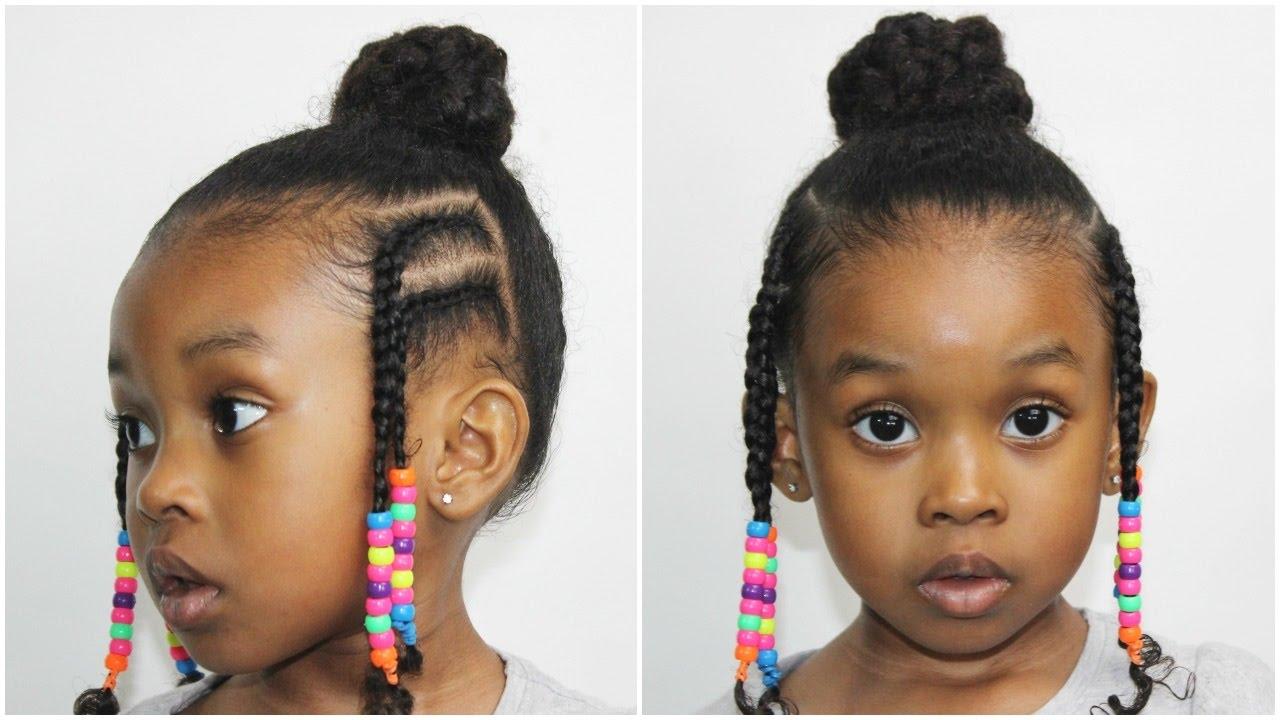 Fulani Bun With Braids Hairstyles Tutorial Youtube