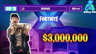 Bugha Dominating the World Cup Solos 2019 | Fortnite Highlights | Longest Runtime