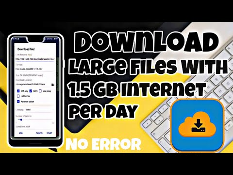 How To Download Large Files With 1gb/day Internet,Best Download Manager
