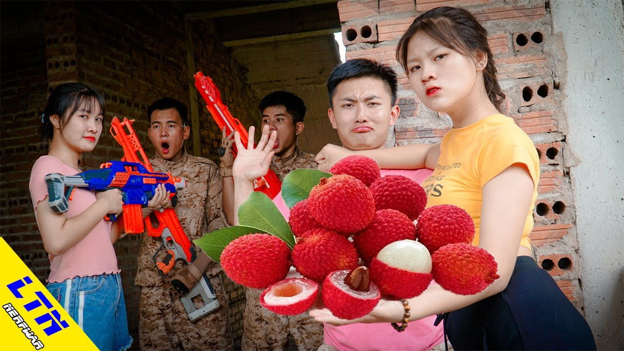 LTN Nerf War  Couple Seal TRIBUTE LITCHI FRUIT & Delta Force T Nerf Guns Fight Servant Team