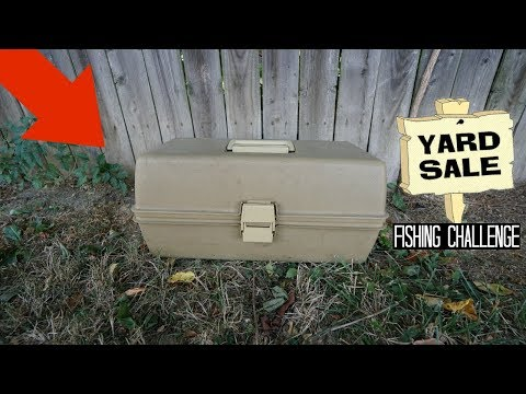 Found FULL Tackle Box At Yard Sale For $5!! (Treasure Chest)