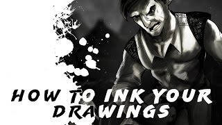 How to ink your drawings