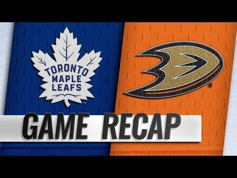 Rielly scores OT winner to lead Leafs past Ducks, 2-1
