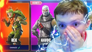 Surprising My LITTLE BROTHER With New SECRET SKINS In Fortnite Battle Royale! (Free Fortnite Skins)