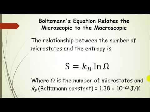 Entropy, Microstates, and the Boltzmann Equation Pt 2