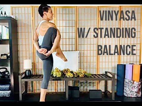 vinyasa yoga for standing poses  youtube