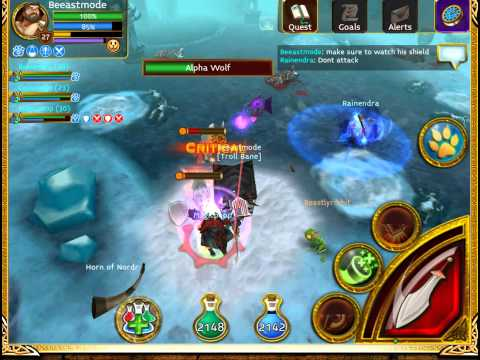 ARCANE LEGENDS PVE Alpha Wolf BOSS Fight,With BeeastMode And Friends