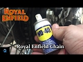 Royal Enfield Tips and Tricks  | How to Clean the chain and Lubrication | WD-40 |