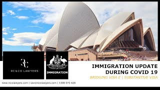 Bridging Visa E | Substantive Visa | Immigration Update during COVID 19 | Tedros Yabio
