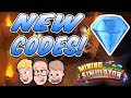 MINING SIMULATOR UPDATE *NEW CODES* Crystal Cavern World Gameplay & Commentary | Roblox Live Stream