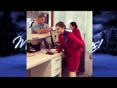 Melbourne Virgin Australia staffer sings Christmas carol and wows passengers
